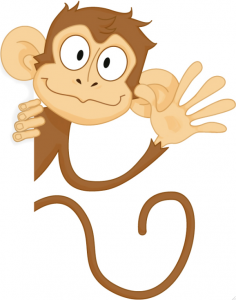 Pic - Monkey waving